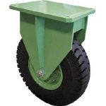 【直送】【代引不可】佐野車輌 超重量級キャスター シングル固定車 荷重3200kgタイプ 285-6