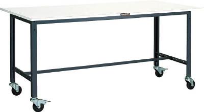 【直送】【代引不可】TRUSCO(トラスコ) LEW型軽量作業台 スチール天板 1500X750XH848 100φキャスター付 LEWS-1500C100