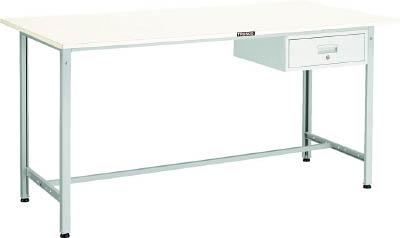 【直送】【代引不可】TRUSCO(トラスコ) AE型立軽量作業台 スチール天板 1500X750XH900 1段引出付 ホワイト HSAE-1500F1 W