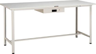 【直送】【代引不可】TRUSCO(トラスコ) AE型立軽量作業台 スチール天板 1200X750XH900 薄型1段引出付 ホワイト HSAE-1200UDK1 W
