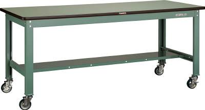 【直送】【代引不可】TRUSCO(トラスコ) HW型中量作業台 スチール天板 1500X750 100φキャスター付 SHW-1500CU100