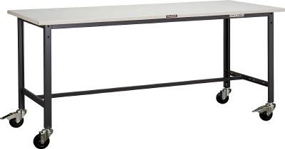 【直送】【代引不可】TRUSCO(トラスコ) AE型軽量作業台 スチール天板 1800X900XH740 100φキャスター付 ヤンググリーン SAE-1809C100 YG