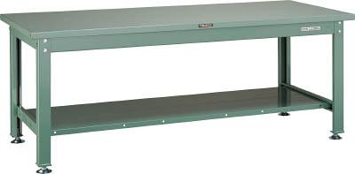 【直送】【代引不可】TRUSCO(トラスコ) DW型中量作業台 スチール天板 900X750XH740 全面下棚付 SDW-900LT