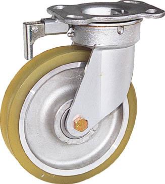 スエヒロ(カツヤマキカイ) 重荷重用リボキャスター(ウレタン車輪)φ100 TSHK4ATR
