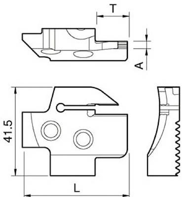 京セラ 溝入れ用ホルダ KGDFR-85-3C-C