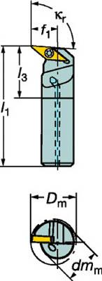 サンドビック コロターン107 ポジチップ用ボーリングバイト A16R-SVUCR 11-ER
