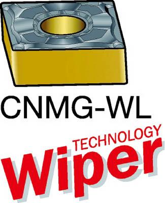 サンドビック T-Max P 旋削用ネガ・チップ 4215 10個 CNMG 12 04 04-WL 4215