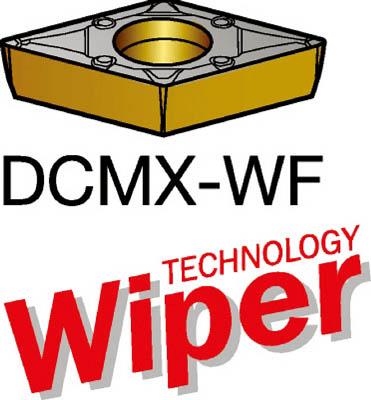 サンドビック コロターン107 旋削用ポジ・チップ 4215 10個 DCMX 11 T3 04-WF 4215