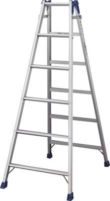【直送】【代引不可】ハセガワ(長谷川工業) アルミはしご兼用脚立 標準タイプ RD型 6段 RD-18
