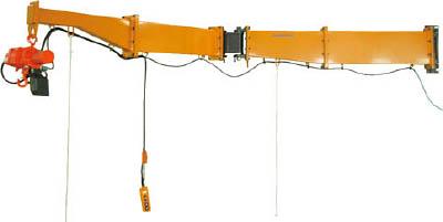 【直送】【代引不可】スーパーツール ジブクレーン 柱取付式 溶接型 490kg JBC4840H