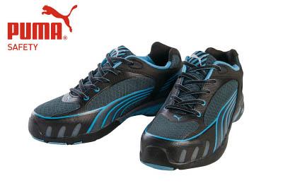 PUMA(プーマセーフティ) 作業靴 ヒューズ・モーション・ブルー・ウィメンズ・ロー 22.5cm 64.232.0-22.5