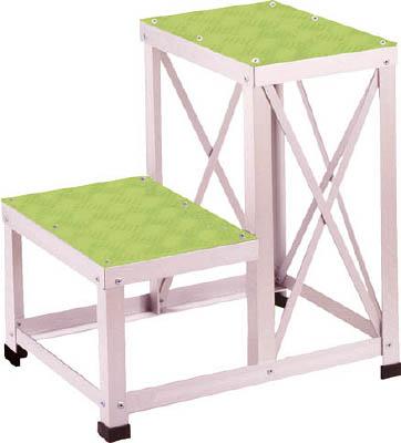 【直送】【代引不可】ユニオンスチール ローハイシステムステップ カラー足踏台(緑) アルミ製 LH-2651A-GR