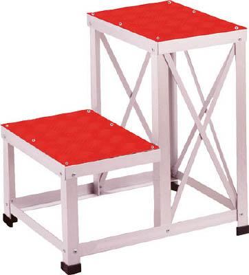 【直送】【代引不可】ユニオンスチール ローハイシステムステップ カラー足踏台(赤) アルミ製 LH-2651A-RE