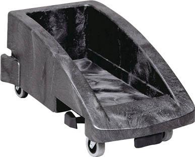 ラバーメイド スリムジムコンテナ トロリー ブラック 3551-8807