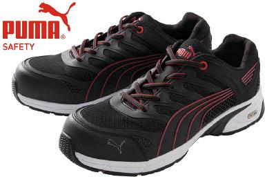 PUMA(プーマセーフティ) 作業靴 ヒューズ・モーション・レッド・メン・ロー 26.5cm 64.224.0-26.5