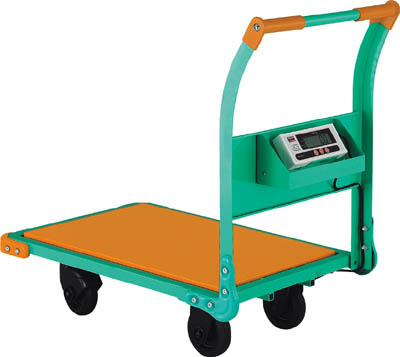 【直送】【代引不可】TRUSCO(トラスコ) 秤付き運搬車 秤量300kg TYH-300