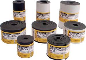 イノアック マイクロセルウレタンPORON 黒 5X500mmX24M巻 L24-5500-24M