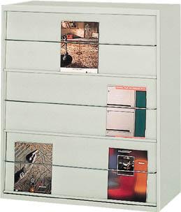 【直送】【代引不可】TRUSCO(トラスコ) ユニット書庫 奥行450 雑誌架 高さ1050 3段 UK-11