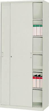 【直送】【代引不可】TRUSCO(トラスコ) ユニット書庫 奥行450 スチール引違 高さ2100 US-21