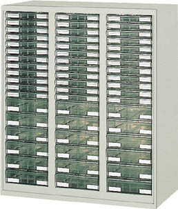 【直送】【代引不可】TRUSCO(トラスコ) ユニット書庫 奥行450 カタログケース 引出A4 浅X36深X18 UR-1138A