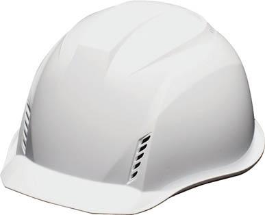 DICプラスチック AA16-W-HB型ヘルメット 白 20個 AA16-HB-FV-W