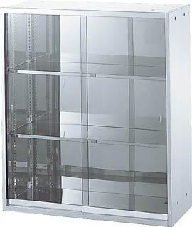 【直送】【代引不可】TRUSCO(トラスコ) ステンレスガラス扉保管庫 900X500X1050 STG5-11