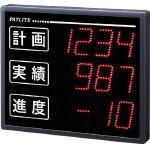 パトライト インテリジェント生産管理表示板 文字高25mm VE100-304