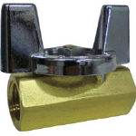 Fujikin mini ball valve made of brass 1.96 MPa 8A (1 / 4) DBV-12B-BU-R