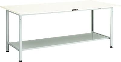 TRUSCO(トラスコ) AE型軽量作業台 ポリ化粧天板 1500X750X740 下棚2枚付 ホワイト AE-1500LT2 W