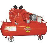 【直送】【代引不可】富士コンプレッサー 空冷二段タンクマウント形コンプレッサー 60Hz W-35MT 60HZ