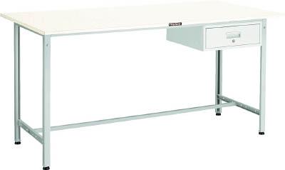 TRUSCO(トラスコ) AE型軽量立作業台 リノリューム天板 1500X750X900 引出1段 ホワイト HRAE-1500F1 W