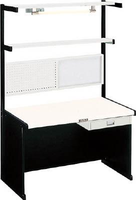 【直送】【代引不可】TRUSCO(トラスコ) ニューラインデスク パネル・照明・幕板付 間口1200 NLDZ-1200-65