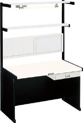 【直送】【代引不可】TRUSCO(トラスコ) ニューラインデスク パネル・照明・幕板付 間口1800 NLDZ-1800-65