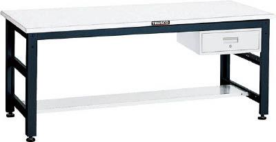 TRUSCO(トラスコ) クリエイティブ作業台 メラミン樹脂天板 1500X750 引出1段 UTM-1575F1
