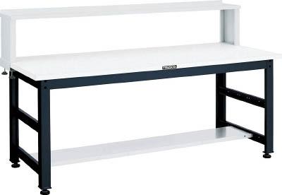 TRUSCO(トラスコ) クリエイティブ作業台 メラミン樹脂天板 1500X750 上棚付 UTM-1575YURB