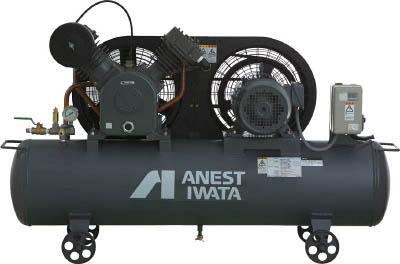 【直送】【代引不可】アネスト岩田 給油式タンクマウントレシプロコンプレッサー 50Hz TLP37E-10M5