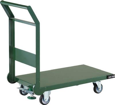 【直送】【代引不可】TRUSCO(トラスコ) 鋼鉄製運搬車 導電性 ストッパー付 800X450mm グリーン SH-3NES-GN