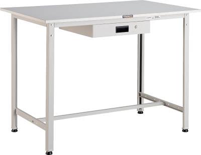 TRUSCO(トラスコ) AE型軽量立作業台 リノリューム天板 1200X750X900 薄型引出1段 ホワイト HRAE-1200UDK1 W
