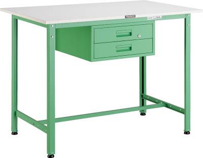TRUSCO(トラスコ) AE型軽量立作業台 ポリ化粧天板 1200X750X900 2段引出付 若緑色 HAE-1200F2 YG