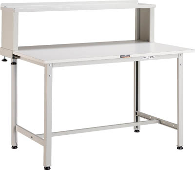 TRUSCO(トラスコ) AE型軽量作業台 ポリ化粧天板 900X450X1044 B型上棚付 ホワイト AE-0945YURB W