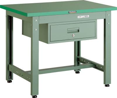 TRUSCO(トラスコ) 中量800kg作業台 ダップ天板 1200X600 1段引出付 グリーン GWP-1260F1