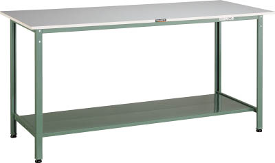 TRUSCO(トラスコ) AE型軽量立作業台 リノリューム天板 1500X750X900 追加下棚2枚付 HRAE-1500LT2