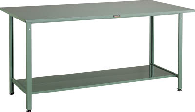 TRUSCO(トラスコ) AE型軽量立作業台 鉄天板 1500X750X900 追加下棚2枚付 HSAE-1500LT2