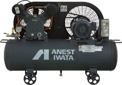 【直送】【代引不可】アネスト岩田 給油式タンクマウントレシプロコンプレッサー 60Hz TLP22E-10M6