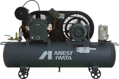 【直送】【代引不可】アネスト岩田 給油式タンクマウントレシプロコンプレッサー 60Hz TLP37E-10M6