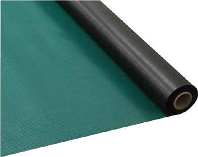 【直送】【代引不可】ワニ印(日大工業) 塩ビマット B山(ライン) グリーン 1.5mm厚X915mmX20m巻 003020