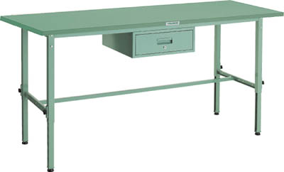 TRUSCO(トラスコ) 軽量高さ調整作業台 鉄天板 1800X600 1段引出付 SAEM-1860F1