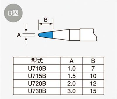 ユニコン(ジャパンユニックス) 交換コテ先 107L・108L用 U715B