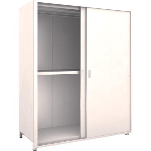 【直送】【代引不可】TRUSCO(トラスコ) ボルトレス棚 M2型 背板・側板・引違扉付 W1500XD595 3段 M2-6563-SGK