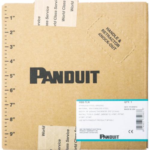 パンドウイット MLTタイプ長尺ステンレススチールバンド4.3X304.8m MBS-MR